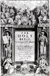 """Frontispiece to """"The Holy Bible,"""" Published by Robert Barker, 1611-Cornelis Boel-Giclee Print"""