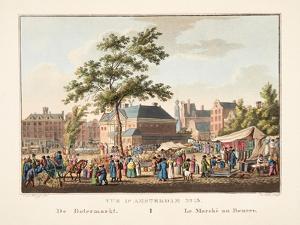 Vue D'Amsterdam No.15. De Botermarkt. Le Marché Au Beurre, 1825 by Cornelis de Kruyff