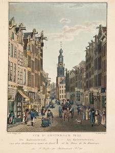 Vue D'Amsterdam No.22. De Kalverstraat by Cornelis de Kruyff