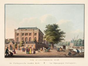 Vue D'Amsterdam No.26. De Portugeesche Jooden Kerk. La Sijnagogue Portugaise, 1825 by Cornelis de Kruyff
