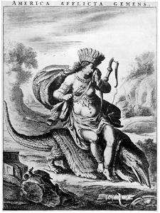 Allegorical View of America, Early 17th Century by Cornelis de Visscher
