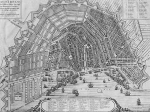 Map of Amsterdam, 1662 by Cornelis I Danckerts