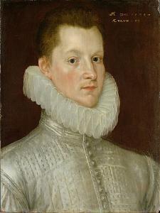 John Smythe of Ostenhanger (Now Westenhanger) Kent, 1579 (Oil on Panel) by Cornelis Ketel