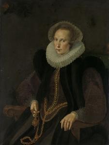 Portrait of Griete Jacobsdr Van Rhijn, Wife of Jacob Cornelisz Banjaert, Called Van Neck by Cornelis Ketel