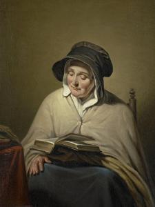 Old Woman Reading by Cornelis Kruseman
