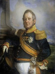Portrait of Hendrik Merkus by Cornelis Kruseman