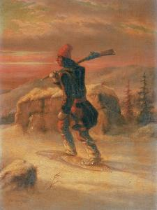 Indian Hunter in the Snow by Cornelius Krieghoff