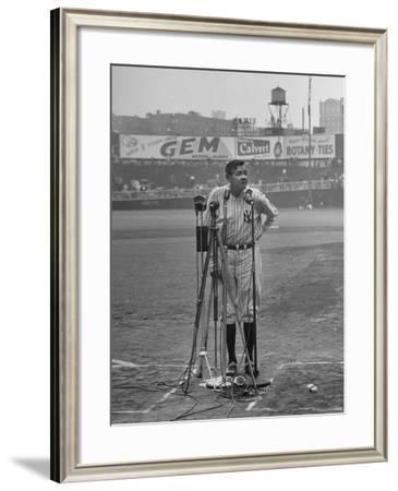 Babe Ruth at New York Yankees' 25th Anniversary