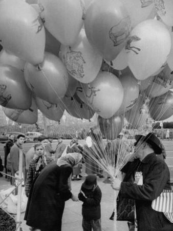 Man Selling Balloons at Dwight D. Eisenhower's Inauguration