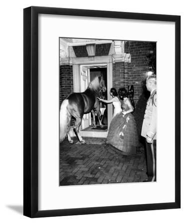 People Bringing in Horse at Dwight D. Eisenhower's Inauguration Party