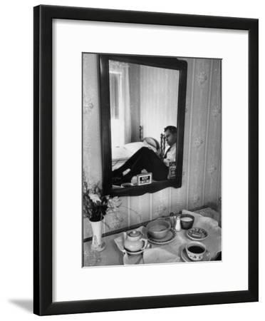Vice Presidential Candidate Richard M. Nixon Eating Breakfast in His Hotel Room