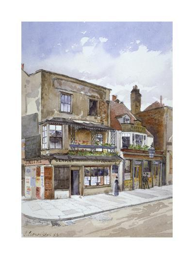 Corner of Cheyne Walk and Lawrence Street, Chelsea, London, 1883-John Crowther-Giclee Print