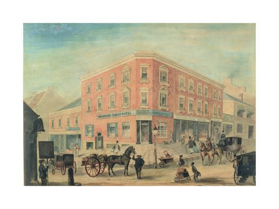 Corner of George and Hunter Streets, Sydney, 1849-A. Torning-Giclee Print