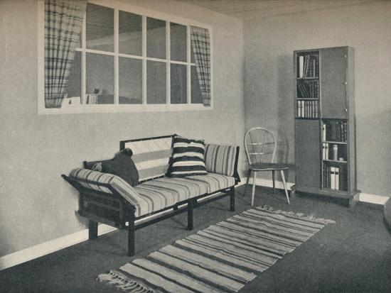 'Corner of living room designed by Prof. Karl Pullich', 1928-Unknown-Photographic Print