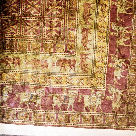 Corner of Pile Carpet from Tomb at Pazyryk, Altai, USSR, 5th century BC-4th century BC-Unknown-Giclee Print