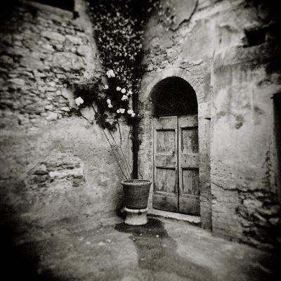 Corner of Quiet Square in Village of Lucignano D'Asso, Tuscany, Italy-Lee Frost-Photographic Print
