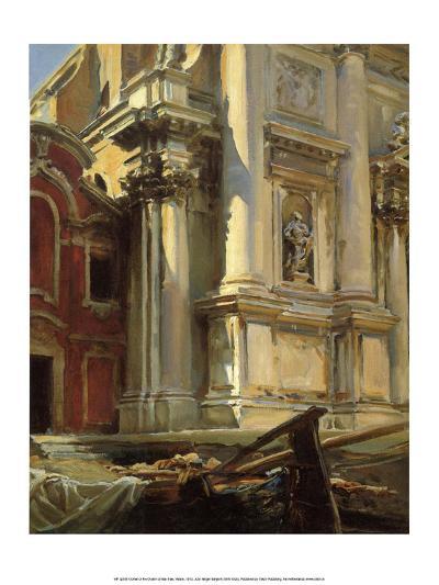 Corner of the Church of San Stae, Venice, 1913-John Singer Sargent-Art Print