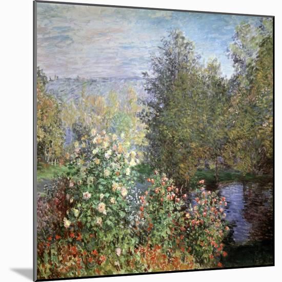 Corner of the Garden at Montgeron, C1876-Claude Monet-Mounted Premium Giclee Print