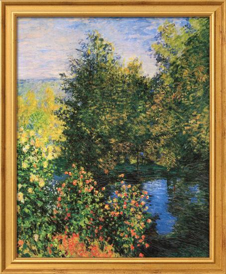 Corner of the Garden at Montgeron-Claude Monet-Framed Textured Art