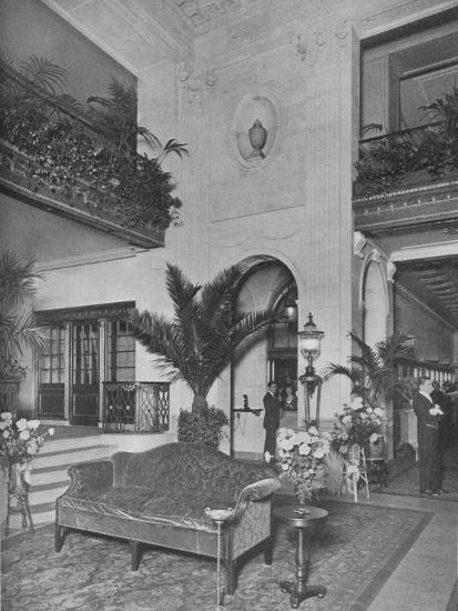 Corner of the main lobby, looking towards the office, Roosevelt Hotel, New York City, 1924-Unknown-Photographic Print