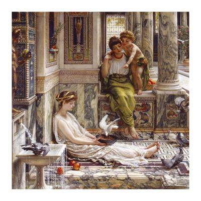 Corner of the Villa-Sir Edward John Poynter-Premium Giclee Print