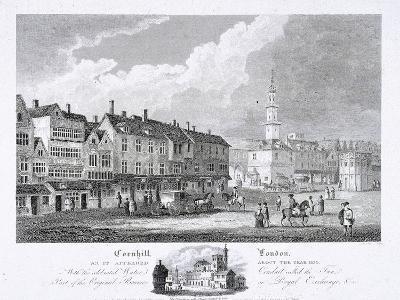Cornhill, London, 1810--Giclee Print