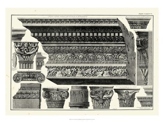 Cornice et Damiani-Giovanni Battista Piranesi-Art Print