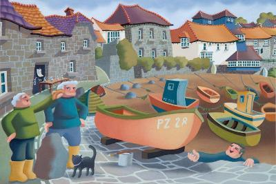 Cornish Fisherman's Lunch, 2001-Victoria Webster-Giclee Print