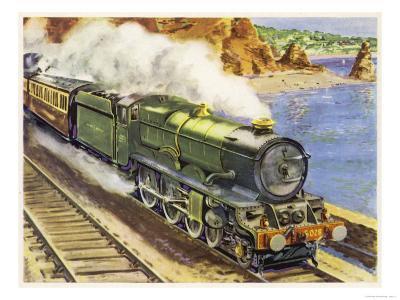 Cornish Riviera Train--Giclee Print
