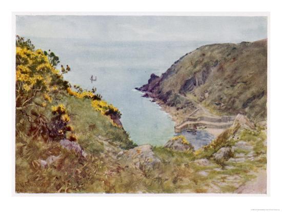 Cornish Scenery: Lamorna Cove-G^f^ Nicholls-Giclee Print