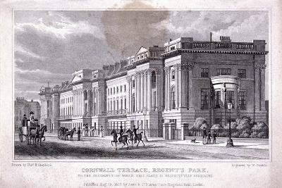 Cornwall Terrace, Regent's Park, Marylebone, London, 1827-William Deeble-Giclee Print