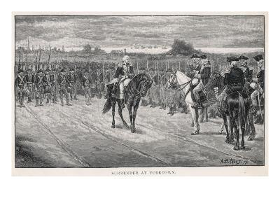 Cornwallis Surrenders at Yorktown--Giclee Print