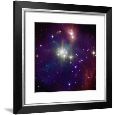 Corona Australis region, one of the nearest and most active regions of star formation in our Galaxy--Framed Photographic Print