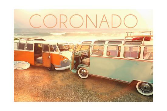 Coronado, Californias on Beach-Lantern Press-Art Print