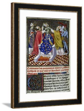 Coronation Ceremony, Miniature from the History of Rome--Framed Giclee Print