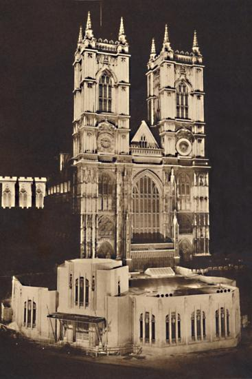 'Coronation Floodlighting - Westminster Abbey', 1937-Unknown-Photographic Print