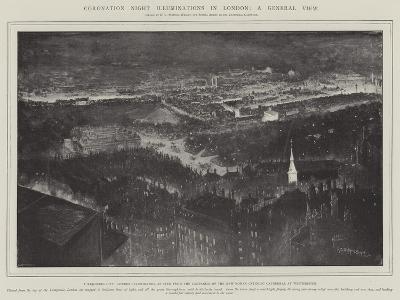 Coronation Night Illuminations in London-Henry Charles Seppings Wright-Giclee Print