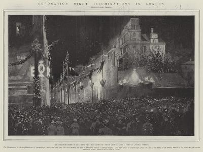 Coronation Night Illuminations in London-Joseph Holland Tringham-Giclee Print