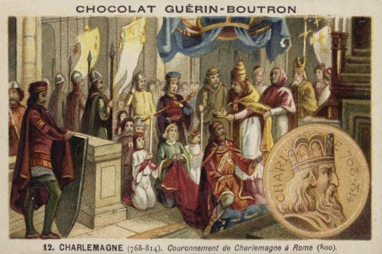 Coronation of Charlemagne as Emperor, Rome, 800--Giclee Print