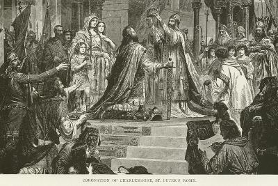 Coronation of Charlemagne, St Peter'S, Rome--Giclee Print