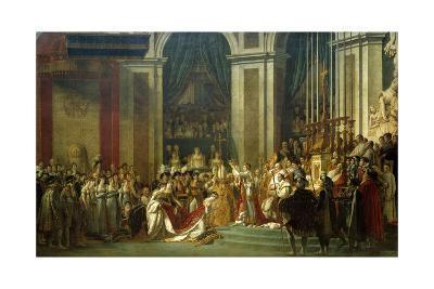 Coronation of Empress Josephine on Dec. 2, 1804-Jacques Louis David-Giclee Print
