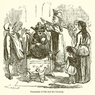 Coronation of Ethelred the Unready-John Leech-Giclee Print