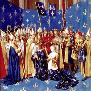 Coronation of French King Louis VIII and Queen Blanche of Castille in 1223