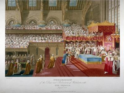 Coronation of King George IV, Westminster Hall, London, 1821-Matthew Dubourg-Giclee Print