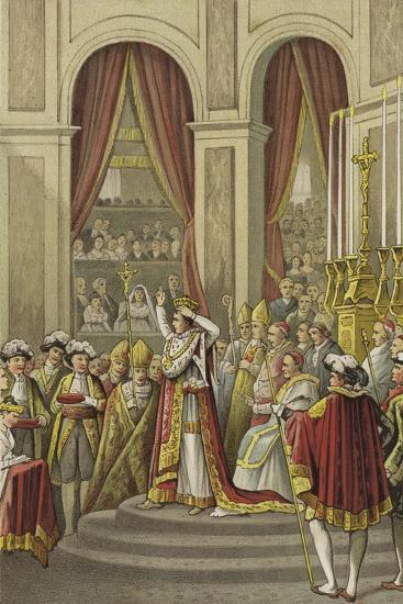 Coronation of Napoleon as Emperor of France, 1804--Giclee Print