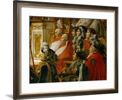 Coronation of Napoleon in Notre-Dame De Paris by Pope Pius VII, December 2, 1804-Jacques-Louis David-Framed Giclee Print