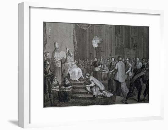 Coronation of Pope Pius VI--Framed Giclee Print