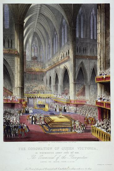 Coronation of Queen Victoria in Westminster Abbey, London, 1838--Giclee Print