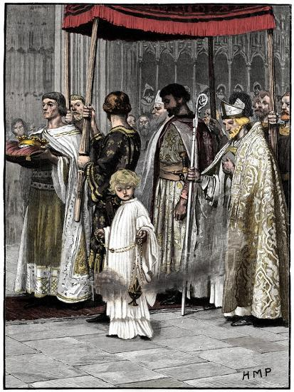 Coronation of Richard I in Westminster Abbey 1189, (c1880)-Unknown-Giclee Print