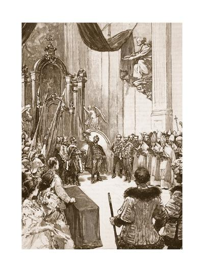 Coronation of the Emperor of Austria as King of Hungary--Giclee Print